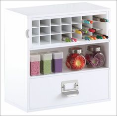 #papercraft #craftroom #crafting supply #organization - this is the Go-Organize Desktop Craft Organizer (a great solution for storing pens like #Copics and the #TimHoltz #DistressMarkers). Get Organized w/ #organizing #furnishings from Go-Organize.com!