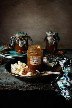 Persimmon and spices jam