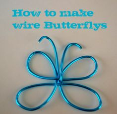How to Make Wire Butterflies for Wood Crafts » Crafty Wood Cutouts   DIY Unfinished Wood Crafts