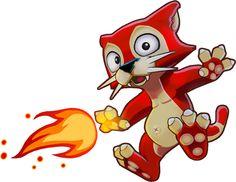 Brave Little Beasties - Feuerkatze www.bravelittlebeasties.de