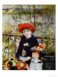 Two Sisters, or on the Terrace, 1881 Giclee Print by Pierre-Auguste Renoir at Art.com