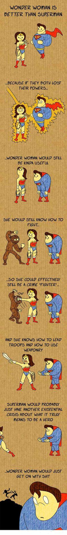 Why Wonder Woman > Superman