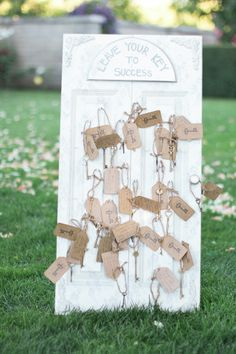 Leave Your Key to Success - Guest Book Idea