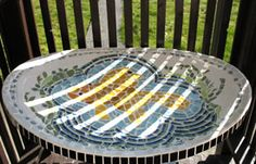 satellite dish birdbath
