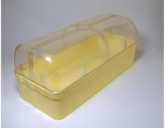 Vintage Yellow Plastic Bread Box/Craft Box  by BewitchingVintage, $20.00