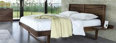 Copeland Contour Collection. Walnut Wood Midcentury Modern Bedroom Decor.