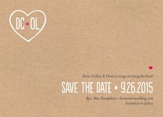 Save the Date Card - Carved Monogram