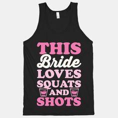 #bride #shots #party #drinking #squats