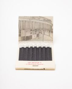 Illustrated matchbooks The French Quarter Original French Market. via Etsy.