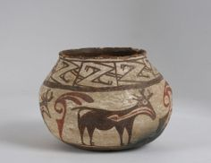 Early Zuni Pueblo Pottery Jar-Olla/ Historic- Native American Indian/ New Mexico