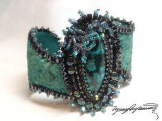 Trindad Blue An Art Piece Bracelet / Cuff created by Lynn Parpard Of A Kind Art Piece,Lander County Nevada Turquoise on Etsy, $210.00