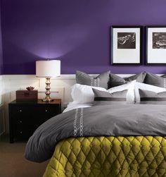 purple&chartreuse; (FAV!) #purple #chartreuse #bedroom