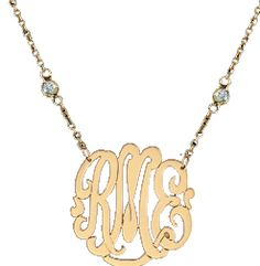 love my monogrammed with diamond necklace.