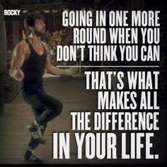 ROCKY BALBOA  Great saying