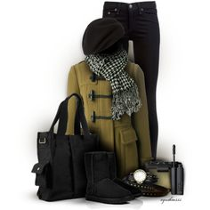 """Black & Olive"" by cynthia335 on Polyvore"