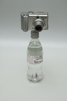 Prev pinner: I have several tripods of different sizes and I hate carrying all of them, even the pocket ones. But I can handle carrying a bottle cap. There's always a place to buy a bottle of water or soda when you're at a tourist destination. This took all of 2 minutes to make and cost less than $1.00!!