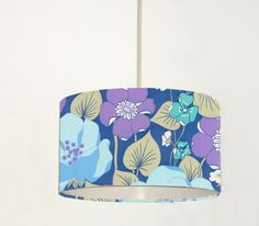 vintage wallpaper lampshade