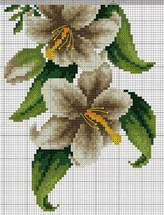 Lily swag 3 cross stitch