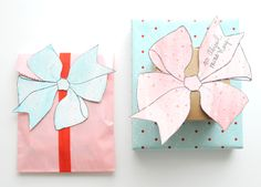 Creature Comforts bow gift tags