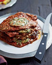 Minute Steak Stacks with Herbed Anchovy Butter Recipe on Food & Wine