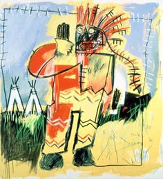 """Tobacco versus Indian Chief"" by Jean-Michel Basquiat. Owned by UBS."