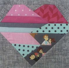 Desperate Housewife's Quilt Block #30..round robin?? paperpiec heart, holiday quilt, quilt blocks