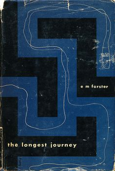 """E.M. Forster's """"The Longest Journey"""" book cover design by Alvin Lustig. New Directions, 1943. First Edition"""
