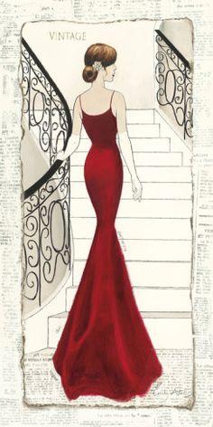 La Belle Rouge Poster von Emily Adams - AllPosters.at