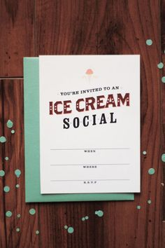 Free Printable Ice Cream Social Invitation - (A Pair of Pears)