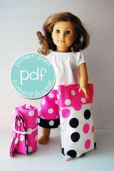 doll and sleeping bag