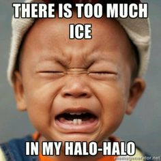Filipino problems halo-halo thoughts, kid cri, halo halo, special cri, random, filipino problem, cri collect, halohalo, funni email