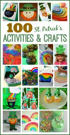 Over 100 St. Patrick's Day Activities & Crafts; these are the best I've seen all in one spot!