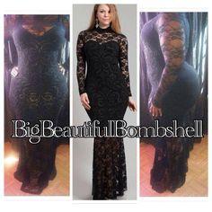 Elegant plus size dress  Shop http://bocacelebrityboutique.com/product/big-beautiful-lace-dress/ #black #blackdress #curves #plus #curvy #plussize