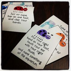Listening Ladybugs: Following Directions game on the blog at http://sublimespeech.blogspot.com/ from @sublimespeech