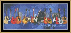 Guitars [JIMB-01] - $16.00 : Mystic Stitch Inc, The fine art of counted cross stitch patterns guitar jimb01, cross stitch patterns, jazz cross, count cross, cross stitches, mystic stitch