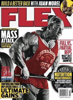 Flex Magazine cover October 2012 featuring Dorian Yates #fitness #exercise #bodybuilding