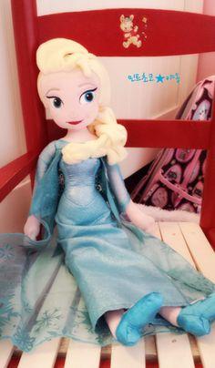 My girl's Frozen stuffs  Elsa doll