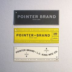 Pointer Brand Hang Tags by Cranky Pressman