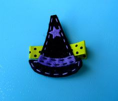Halloween Hair Clip Good Witch Hat Felt by extrafrostingplease, $4.00