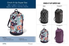Thirty-One Cinch-It-Up Super Sac-You Pick Pattern - NIB *NOT PERSONALIZED*