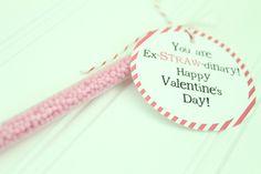 Ex-STRAW-dinary Valentines using Magic Milk Straws + Free Printable Tags #valentines #printable #lilluna