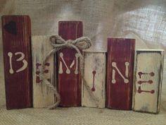 Primitive Valentine Be Mine Wood Shelf Sitter by DoughAndSplinters, $12.99