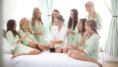 Bridesmaid Robes in Mint