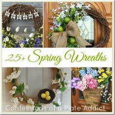 decor, craft, idea, easter, front door, spring wreaths, diy, confess, plate addict