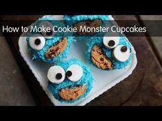 kitchens, pbs parent, cookie monster, craft, monster cupcak