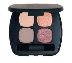 Four to adore.  Fall in love with the @bareMinerals Ready 4.0 Eyeshadow Quad, The Happy Place.  Be pretty in pink & purple with this luminous collection of color!