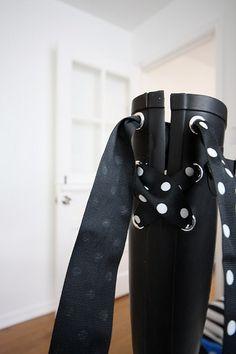 Botas de agua con lazo