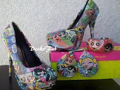 Power Puff Girl High Heel Pumps by DeckoFab on Etsy, $85.00