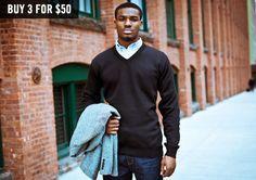stripe, argyl sweater