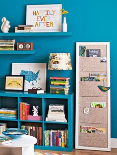 Magazine pockets are useful for organizing stacks of periodicals. Learn how to make your own: http://www.bhg.com/decorating/storage/projects/diy-simple-storage-weekend-projects/#page=4